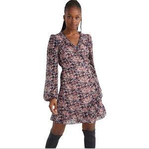 & Other Stories Ruffled Mini Wrap Dress